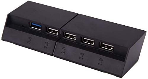 USB Hub per PS4 - LeSB 5 Porte (1x USB 3.0, 4x USB 2.0) Gaming USB3.0 estensione Adattatore Caricabatteria Caricatore per PlayStation 4 Console