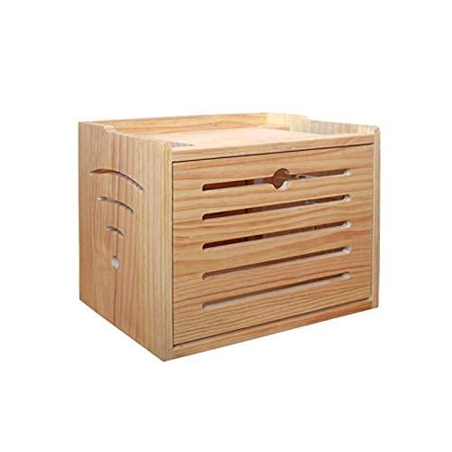 Router Caja de almacenaje, Pared Que cuelga la Caja de almacenaje Organizador de Escritorio para el Router WiFi, Caja de Cable para los Cables, para Socket/Controles remotos/DVD/Módem,B