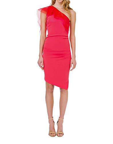 Elisabetta Franchi AB76711E2 - Vestido de mujer de primavera verano P/E 2021 Amaranto 46