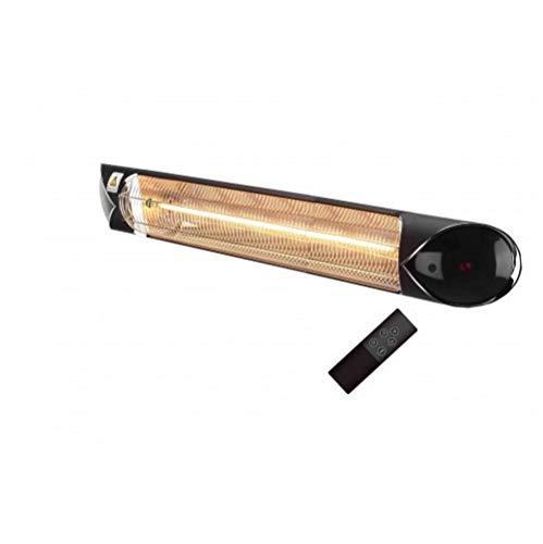 my4garden.com Infrarotlampe heizer aussen und innen mit Carbon-Leuchtmittel, 3000 Watt, IP55, 4 Leistungsstufen, In- und Outdoor, niedriger Verbrauch Blaze3000, Schwarz.