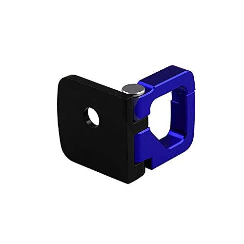BGTR Casco cuadrado de motocicleta universal CNC aleación de aleación de aluminio Hook Hook Hook Hoders Rack compatible con las piezas de la herramienta de reparación de motocicletas (Color : Azul)