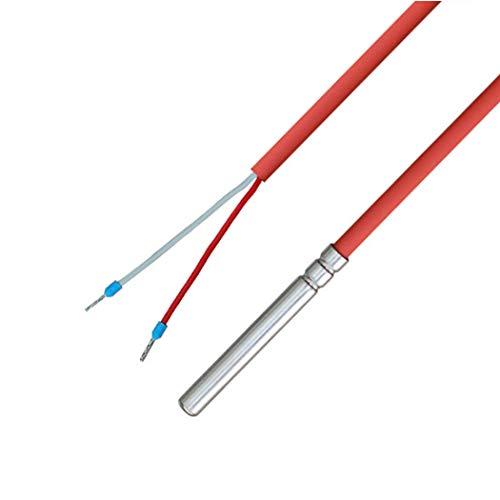 PT100 - Sensor de temperatura con cable de silicona hasta 200 °C, 1 metro