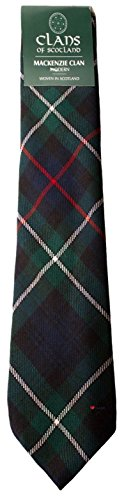 I Luv Ltd MacKenzie Clan 100% Wool Scottish Tartan Tie