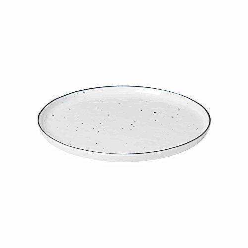 broste Copenhagen Salt mit Dots Brotzeitteller Ø 22 cm, weiss, 14533204