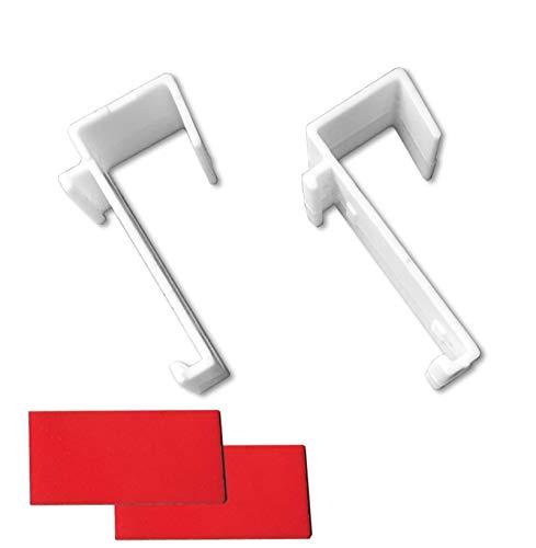 KLEMMFLEX Klemmträger für Duo-Rollo, Rollo, Minirollo - OHNE Bohren - Nicht verstellbar - inklusive Klebepads - 1 Paar (2 Stück)