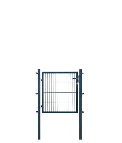 Koll Living Gartentore für Stabmattenzaun - Farbe und Höhe wählbar - inkl. Pfosten und Befestigungsmaterial (Gartentor H 80 x B 100 cm, anthrazit)