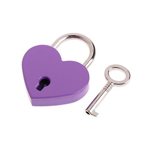 Zuanty-Planting Herzform Antiken Stil Miniatur Antikes Vorhängeschloss Schlüsselschloss Mit Schlüssel