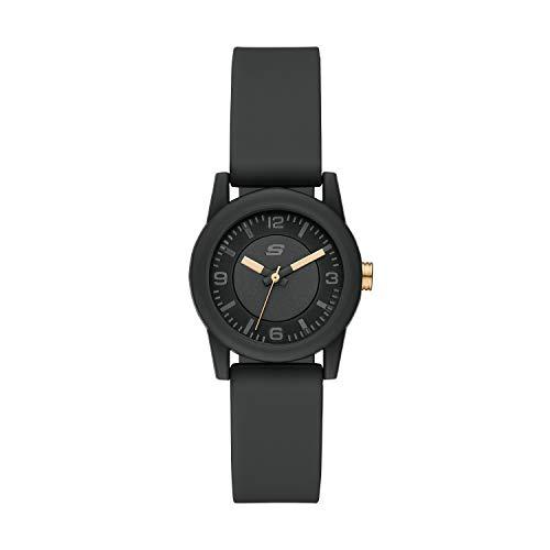 Skechers Women's Rosencrans Polycarbonate Quartz Watch with Silicone Strap, Green, 16 (Model: SR6212)