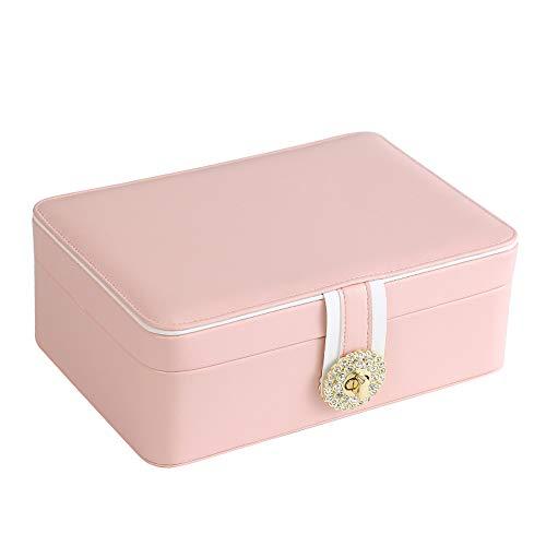DSAN Caja para Joyas joyero Caja Estuche Joyero Jewelry Organizer para Anillos Caja para Joyas Caja Joyero para Mujer Viaje Joyero Pequeña Portátil Joyero,Duradero,Inodoro,para Pendientes,Collares.