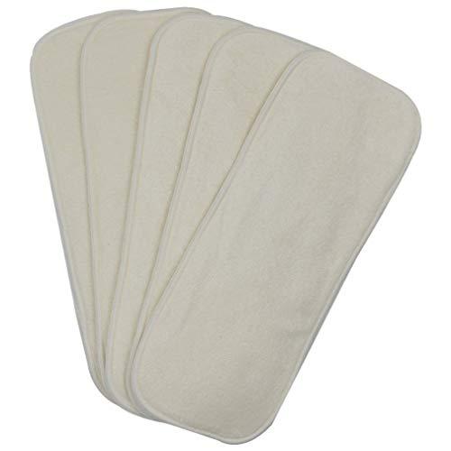 Almohadilla de Cambio de bebé súper Absorbente Lavable de pa?al de Fibra de bambú de 4 Capas