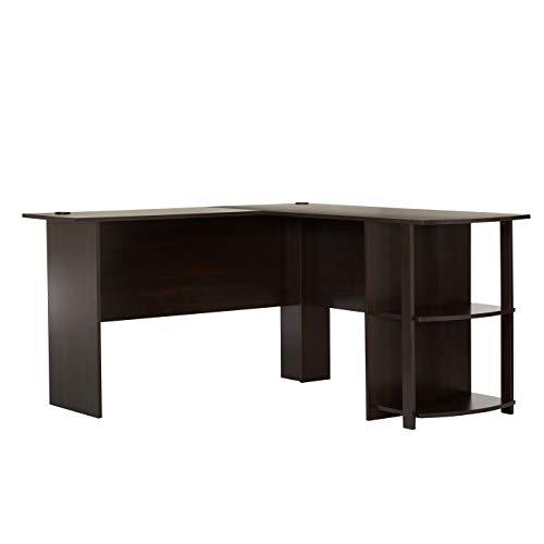 Ameriwood Home Dakota L-Shaped Desk with Bookshelves (Espresso)