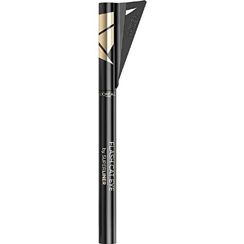 L Oréal Paris Superliner Flash Cat Eye, Eyeliner Waterproof a Lunga Tenuta, Con Ala Stencil, Nero, 6 g