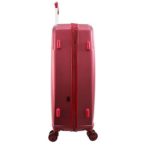 Collection GARDANNE - Lot de 2 valises ZIFEL - ABS - 4 Roues - 50cm - 70cm (Bordeaux)