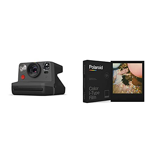 Oferta de Polaroid - 9028 - Polaroid Now Cámara instantánea i-Type Negro + Película Instantánea