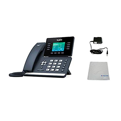 Yealink T52S SIP POE Office Phone Bundle with Power Supply and Microfiber Cloth   Requires VoIP Service - Vonage, Ring Central, 8x8, Mitel or Cloud Services   #YEA-T52S (T52S Basic Bundle)
