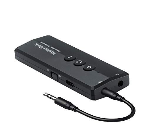 Receptor transmisor Bluetooth 5.0 3 en 1, iSbeller Adaptador de Audio inalámbrico de 3,5 mm para TV, PC, audífonos, Sistema de Sonido para el hogar, para Disfrutar de Voz como el CD