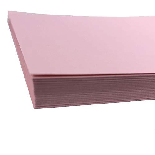 A4 Hellrosa Karten Papier Drucker - 160g/m2 40 Blatt - Rosa Bastelkarte - geeignet für Basteln, Drucken, Kopieren, Fotokopieren