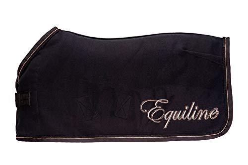 Equiline Abschwitzdecke E_BANKSIA Größe 145cm, Farbe schwarz