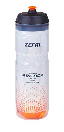 ZÉFAL Naranja, Bidón Isothermo Arctica 75 Plata, 750ml, Unisex Adulto, 750 ml