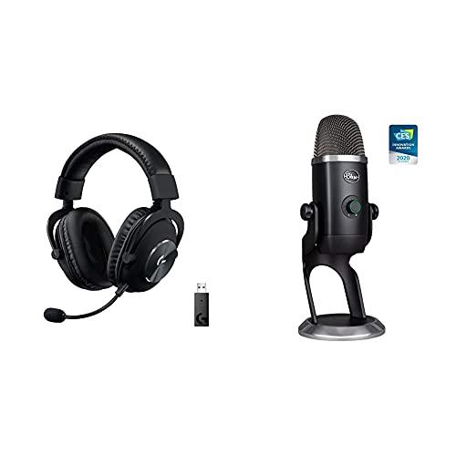 Logitech G Pro X Wireless Headset + Blue Yeti X USB Microphone Gaming Streamer Bundle