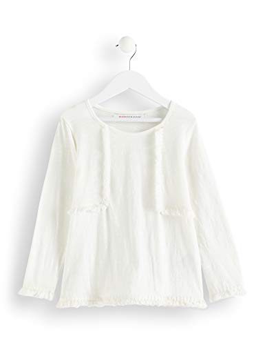 Amazon-Marke: RED WAGON Mädchen Bluse mit Fransen, Weiß (Ivory), 116, Label:6 Years