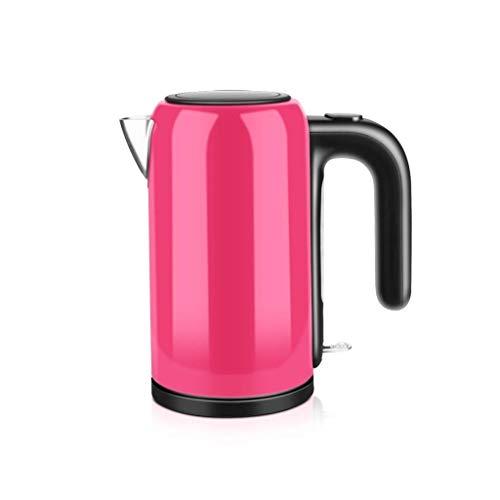 Bouilloire électrique eau en acier inoxydable, bouilloire sans fil thé avec Coupure automatique au bout anti-marche à sec, double paroi anti eau chaude chaudière, 1200 W, bleu RTOPW (Color : Pink)