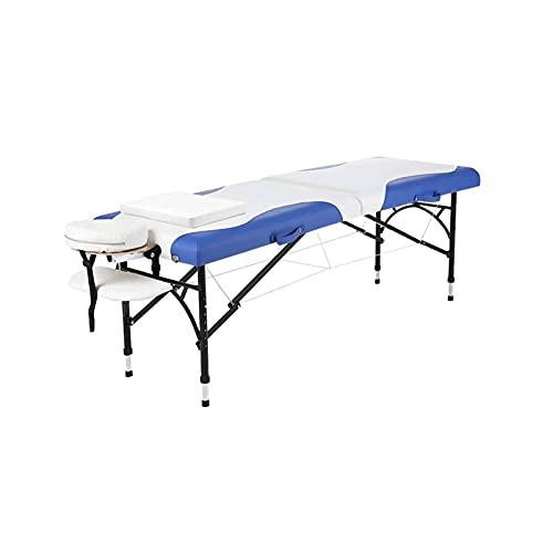 WGLL Mesa de Masaje portátil Plegable - Cama de salón Plegable Ajustable Profesional, Bolsa de Transporte para Terapia, salón, SPA y Tratamiento Facial