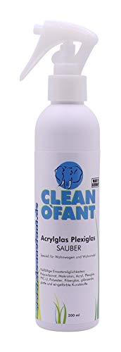 CLEANOFANT Acrylglas-Plexiglas-SAUBER - 200 ml - Reiniger für Kunststoff-Fenster Lichtkuppeln Haushalt