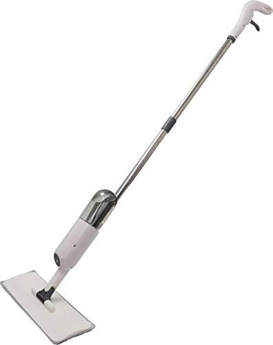 マクロス スプレーモップ フロアーモップ 床掃除 床磨き マイクロファイバーパット×2付属 ホワイト MCZ-192