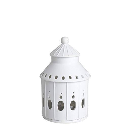 Living Lichthaus - Casetta luminosa con castello delle fiabe, diametro: 8 cm, altezza: 13 cm