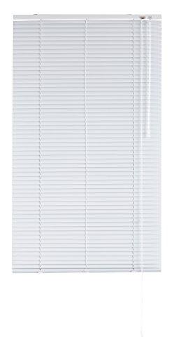 Blindecor - Veneciana de Aluminio, Lama de 25 mm, Blanco, 90X250 cm