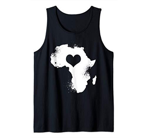 Afrika Kontinent Silhouette   Safari Kleidung   Herz Afrika Tank Top