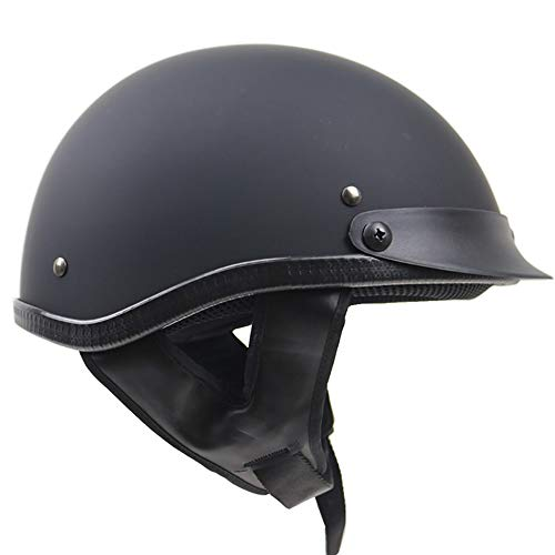 Jethelm Motorradhelm Helm Motorrad Mopedhelm für Damen Und Herren, Braincap,Helmschale Aus ABS, Waschbare Polster,Schnellverschluss,S~XXL