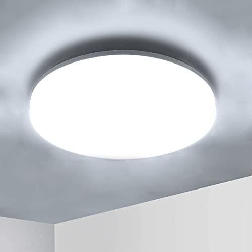 Ketom Lámpara de Techo LED 36W, Lámpara de techo luz blanca 6500K Plafón de Techo Redonda Equivalente a la lámpara de 120W, Moderna LED Plafón Para Dormitorio Baño Cocina, Sala de Estar Ø23cm