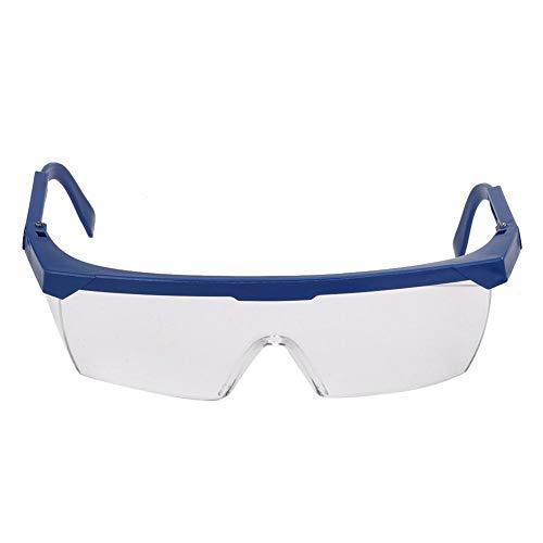 Veiligheidsbril, doorzichtige veiligheidsbril voor laboratoriumwerkplaats Buiten, persoonlijke beschermingsmiddelen Doorzichtige lens(Blauw)
