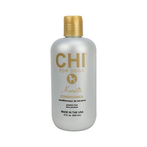 CHI for Dogs Keratin Conditioner, 12 oz | Best Keratin Conditioner for Dogs & Puppies | Sulfate & Paraben Free, pH Balanced for Dogs, Made In the USA