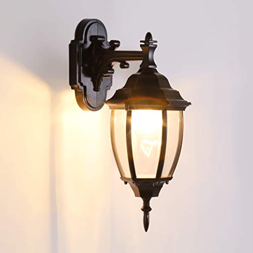 LRW Lampe murale cour intérieure extérieure étanche européenne porte porte Villa lampe extérieure couloir soleil lampe (Size : S16.5 * 34 cm)