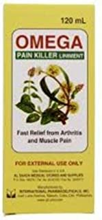 120 ML Omega for rapid of minor aches and pains of muscles and joints and arthritis.