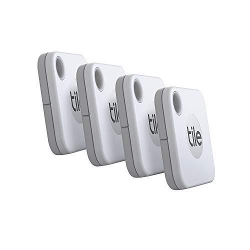Tile Mate (2020) Bluetooth Schlüsselfinder, 4er Pack, 60m Reichweite, 1 Jahr Batterielaufzeit, inkl. Community Suchfunktion, iOS und Android App, kompatibel mit Alexa und Google Home; weiß