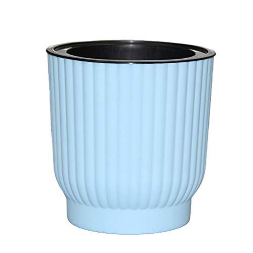 Sunfauo Macetas Riego Automatico Macetas Plastico Semillas de ollas Pequeña Planta de Marihuana Macetas pequeñas para Interior Planta de Marihuana Blue,12cm