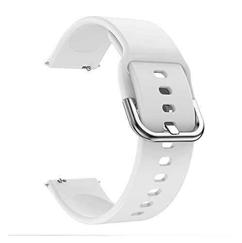 XXY para Huawei Watch GT2 GT 2 GT 42mm 46mm Smart Watch 20mm Watch Strap Silicone WatchBands 22mm Watch Band Pulsera (Color : White, Size : Gt2 42mm)