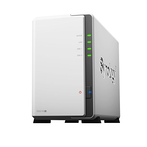 Synology DS216J 2 Bay Desktop NAS Gehäuse