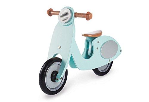 Pinolino Laufrad Vespa Wanda, Laufrad Holz, unplattbare Bereifung, Sattel 3-fach höhenverstellbar, für Kinder von 3 – 5 Jahren, mint