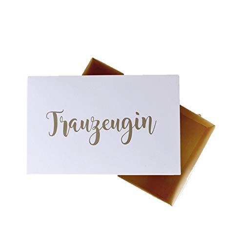 Geschenkbox Trauzeugin Geschenk Karton personalisiert Verpackung