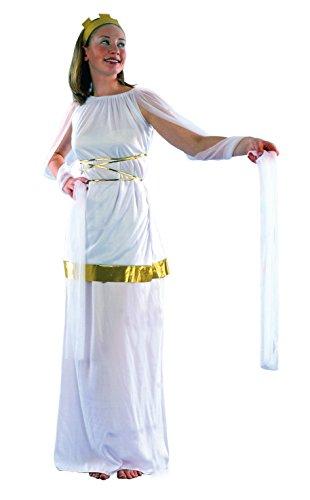 Blumen Paolo–Poppaea Sabina Antike römische Kostüm Damen Erwachsene Womens, weiß, Größe 40–42, 62131