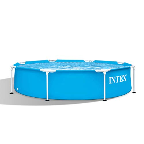 Intex 28205EH 8 X 20 Rust Resistant Durable Steel Metal Frame Outdoor Backyard Circular Swimming Pool with Reinforced Sidewalls (Pump Not Included)