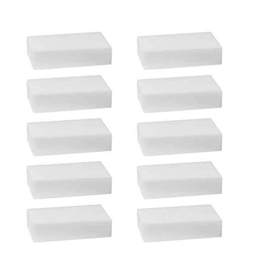 10 esponjas mágicas de goma de borrar multifunción limpiador de platos de cocina esponja de limpieza sucia, esponjas mágicas sin químicos para eliminar marcas y manchas