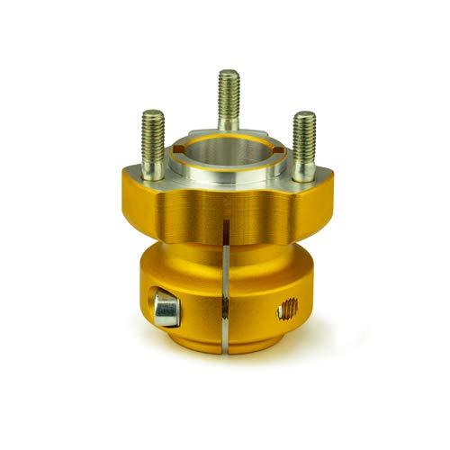 Kart Radstern hinten - geeignet für 40 mm Achse - Länge: 62/95/115 mm - gold (62mm)