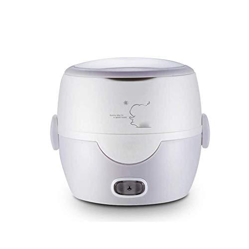 Mini Electric Hot Pot, Trockengehschutz Edelstahl Inner-Reis-Dampfer-Kocher mit Ei Steaming Rac (Farbe: rot) (Farbe: rot) lalay (Color : Gray)