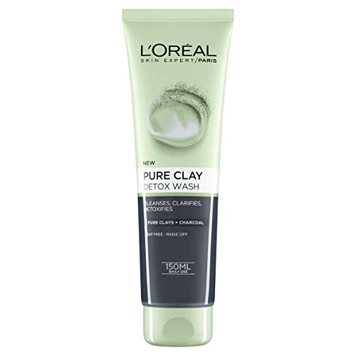 L'Oreal Paris Pure Clay Charcoal Detox Face Wash 150 ml